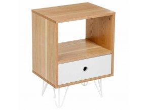 Retro Shulg noční skříňka Dekorativní skandinávský Ložnice nábytek se zásuvkou a policemi