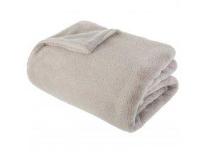 Měkká teplá deka, kostkované 120x160cm béžová