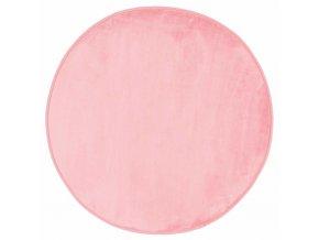 Kulatý světle růžový koberec, 90 cm