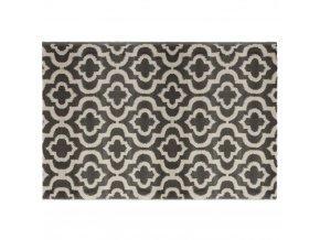 Koberec šedý se vzory, praktický chodník pro chodbu, pokoj nebo ložnici v orientálním stylu