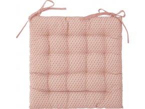 Růžový polštář v módním designu, prošívaný polštář pro větší pohodlí u stolu