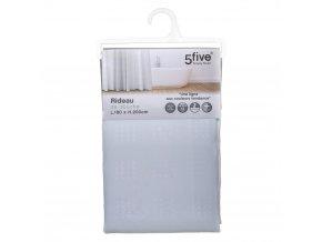 Sprchový závěs s s antibakteriálním povlakem, vodotěsný, bílý