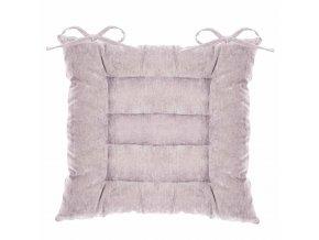 Čtvercový polštář pro židle v růžové barvě, 40x40 cm