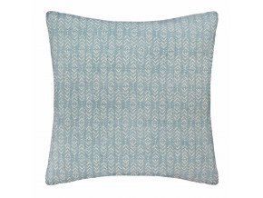 Dekorativní polštář Living BLUE, modrý s potiskem, 60 x 60 cm