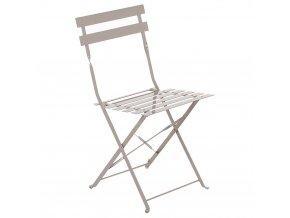 Skládací zahradní židle pro balkon taupe