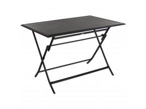 AZUA Balcony Stůl, Skládací zahradní stůl, Obdélníkový, Černá