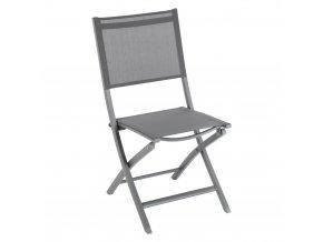 zahradní židle, skládací, na balkoně, barva tmavě šedá
