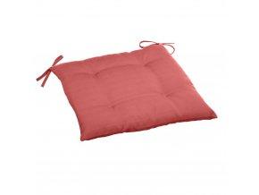 Polštář židle s vazbou, prošívaný, barva červená