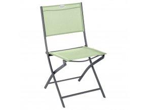 zahradní židle, skládací, na balkoně, zelená barva