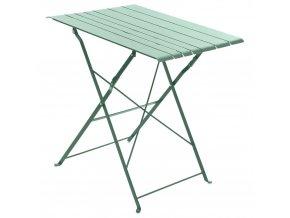 Skládací balkonový stůl z kovu v mátové barvě, 52x71 cm
