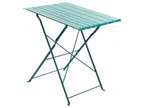 Skládací balkonový stůl v modré barvě, 52x17 cm