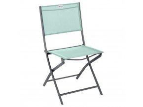 zahradní židle, skládací, na balkoně, modrá barva