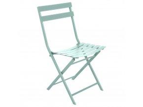zahradní židle, skládací, pro balkon, barva máty