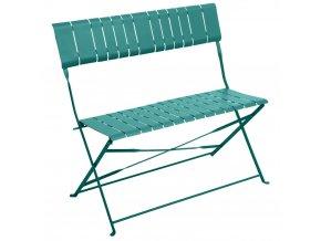 Metal Garden Lavička, 2-sedadlový Skládací, Modrá