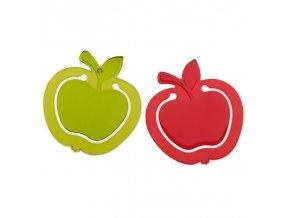 Záložka MINI APPLE - průhledná olivová a červená, KOZIOL