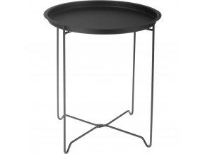 Konferenční stolek z kovu v černé barvě, 42x48 cm