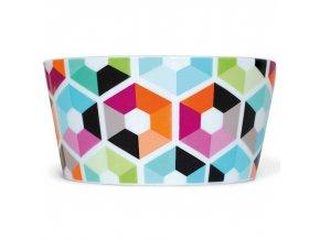 Keramická barevná stylová mísa na salát, 13x6 cm, 450 ml