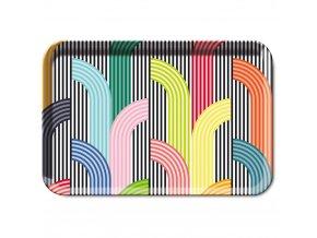 Melaminový podnos, velká kuchyňská podložka pro potraviny v barevném vzoru