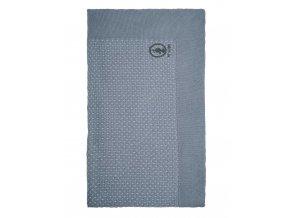 Teplá akrylová deka, měkká dekorativní kostkované, 100% akryl - modrá, PIP Studio