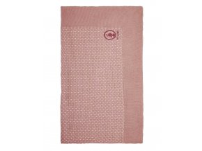 Teplá akrylová deka, měkká dekorativní kostkované, 100% akryl - růžová, PIP Studio