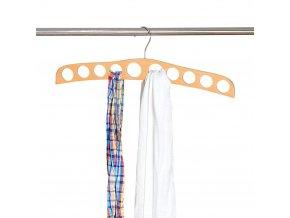 Závěs s otvory, organizátor pro šátky, šátky nebo popruhy je vhodný pro šatní skříň nebo šatní skříň