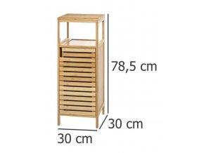 Bambusový stojan pro koupelnu, skříňka s policemi ve skandinávském stylu