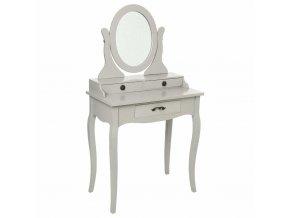 Chrysa Retro dekorativní šatna Stylový vintage nábytek se 3 zásuvkami a zrcadlem ložnice
