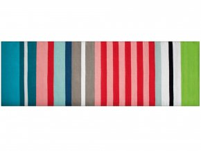 Pruhovaný bavlněný koberec, originální koberce dlažba ideální pro chodbu nebo kuchyň