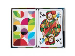 Hrací karty s nebývalým vzorem, dvoupodlažní s žolíky pro různé herní možnosti