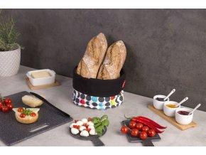 Bavlněný chléb koš, potravinový kontejner v jedinečném designu
