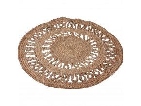 Kulatý pletený koberec z juty, přírodní chodník na chodbu