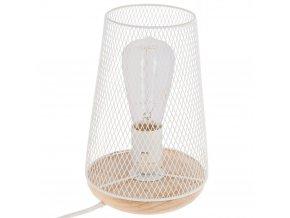 Stolní lampa, bílá, průmyslová