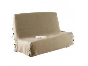 Pohovka potah z bavlny v béžové, praktický přehoz na postel, pohovka nebo rozkládací pohovka.
