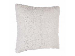 Bílý kožešinový polštář, lehký 40x40cm MISTINGUETTE