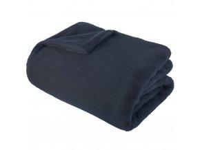 Měkká teplá deka, kostkované 120x160cm Marine