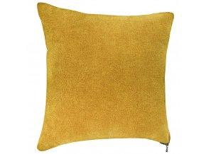 Zlatý dekorativní polštář, hladký, lehký se zámkem 40x40cm