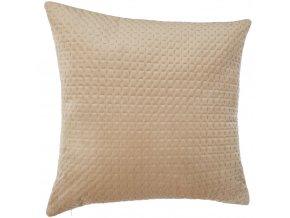 Velvet dekorativní polštář, béžová lůžkoviny světlo 60x60cm