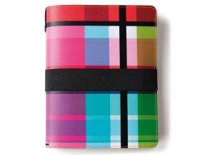 Kožený notebook, pestrý den organizátor