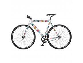 """Barevná ochranná fólie """"Tonda"""" pro jízdní kola značky Zapamatovat, nálepka na kolo s dynamickým designem"""