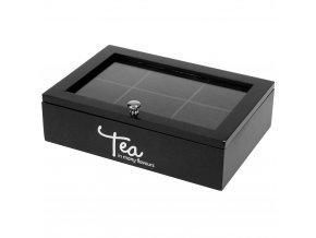 TEA Dřevěný čajový stroj, 6 přihrádek