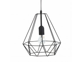 Dekorativní závěsná lampa LOFT, moderní kovová konstrukce