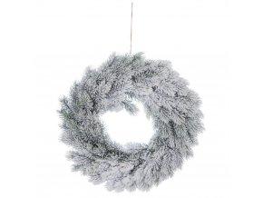 Vánoční čelenka pro dveře se sněhem, Ø 40 cm