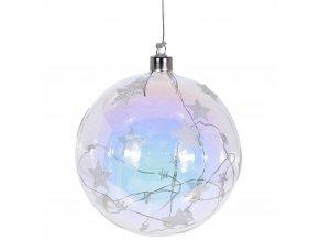 Vánoční ozdoby LED, velké sklo Ø 12 cm