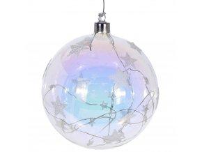 LED vánoční ozdoby, velká skleněná koule, průměr 15 cm