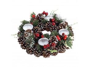 Vánoční stolek čelenka, místo pro 4 svíčku Ø 30 cm