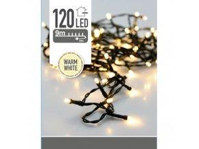 120 LED venkovní vánoční stromeček lampy 9 m Teplá světle žlutá