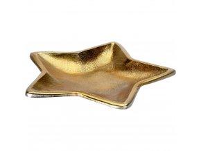 Dekorativní podnos, vánoční motiv, kov, zlato, 35 cm
