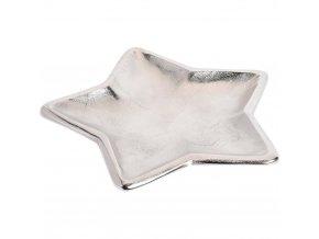 Dekorativní podnos, vánoční motiv, kov, světlá šedá, 35 cm