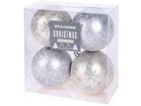 Vánoční ozdoby DaWN, průměr 10 cm, stříbro