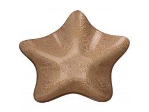 Podnos s občerstvením, téma hvězdy, 20 cm, zlato